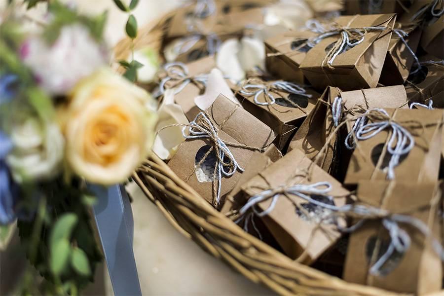Blumensamen als Gastgeschenk zur Hochzeit