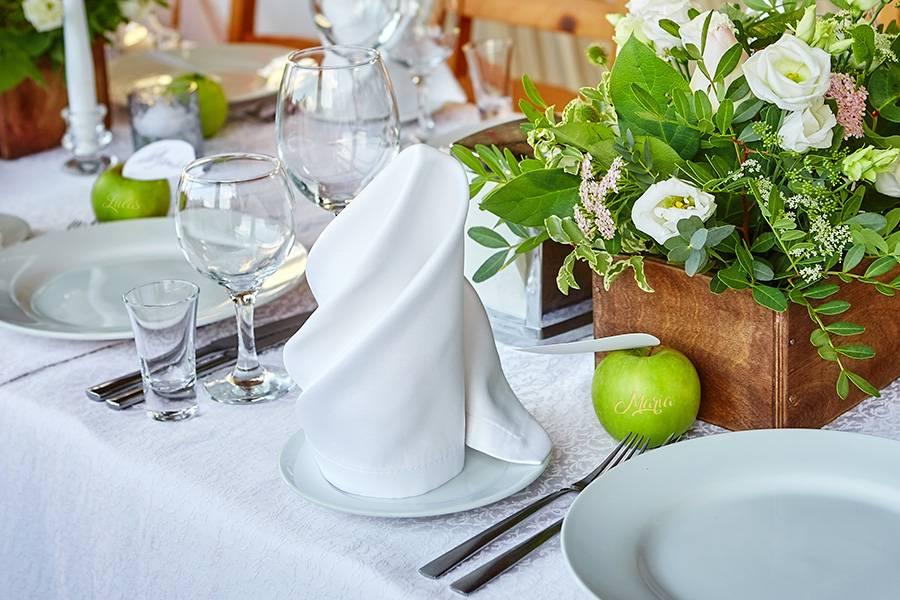 Laserapfel als Gastgeschenk zur Hochzeit