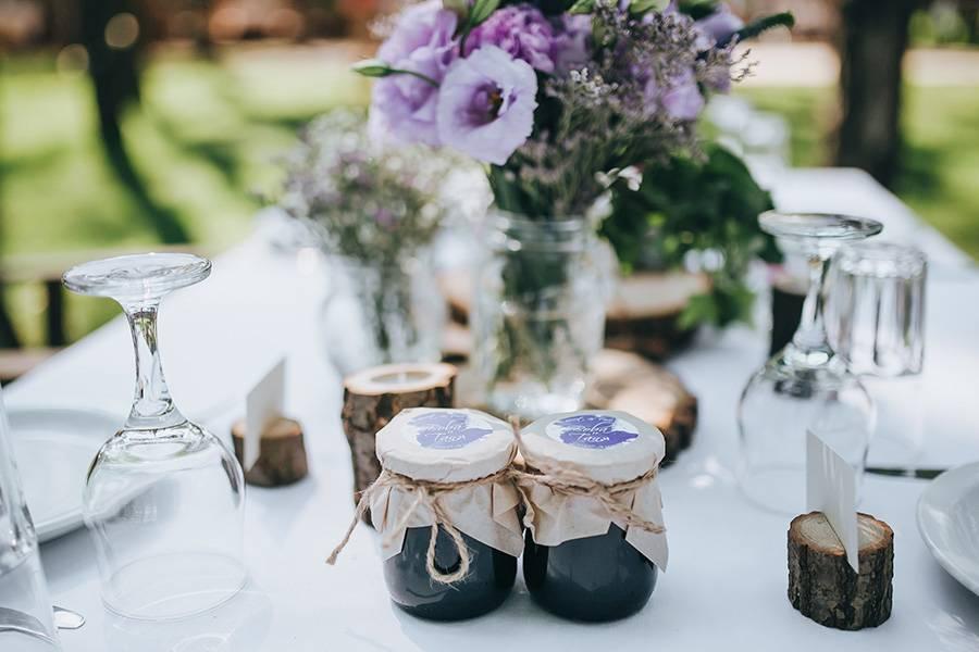 Marmelade als Gastgeschenk zur Hochzeit
