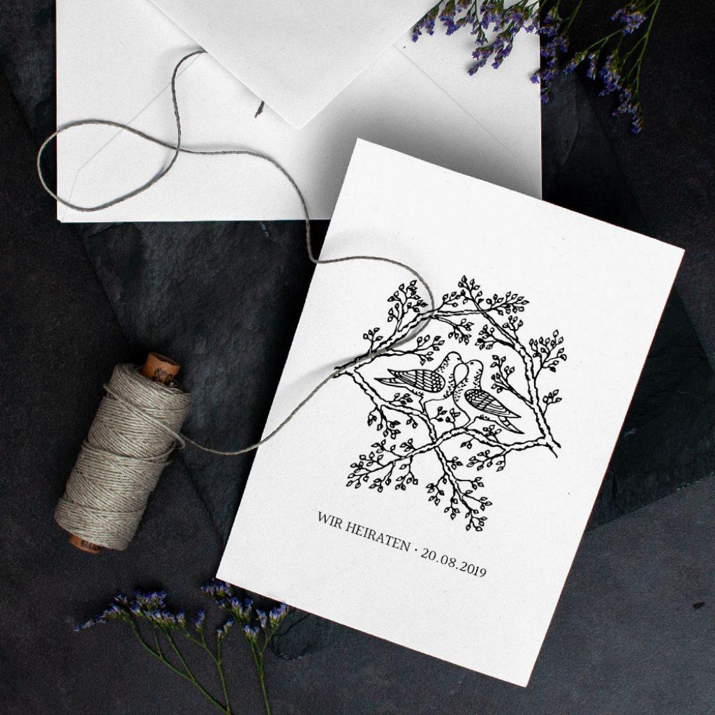 Klassische Hochzeitseinladungen