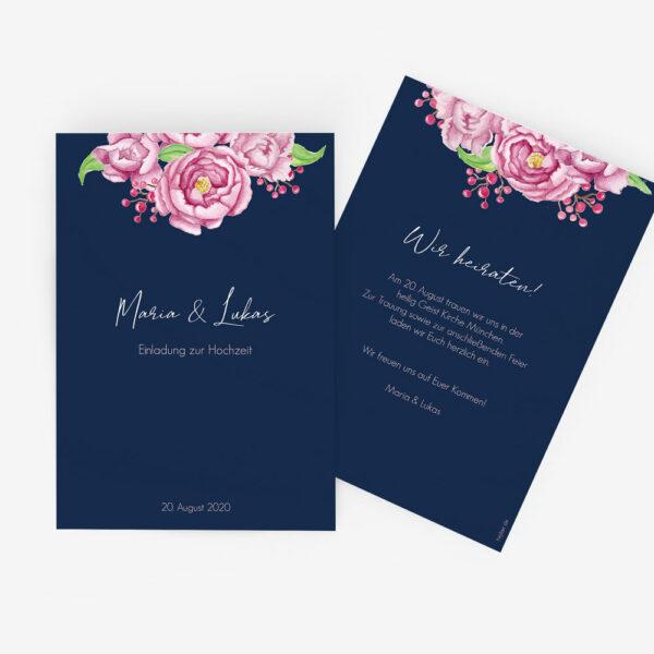"""Nachhaltige Hochzeitseinladung """"Midnight Garden"""""""