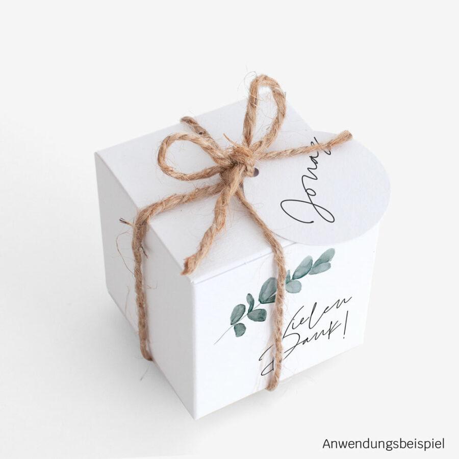 """Nachhaltige Gastgeschenk Verpackung """"Eukalyptus"""""""