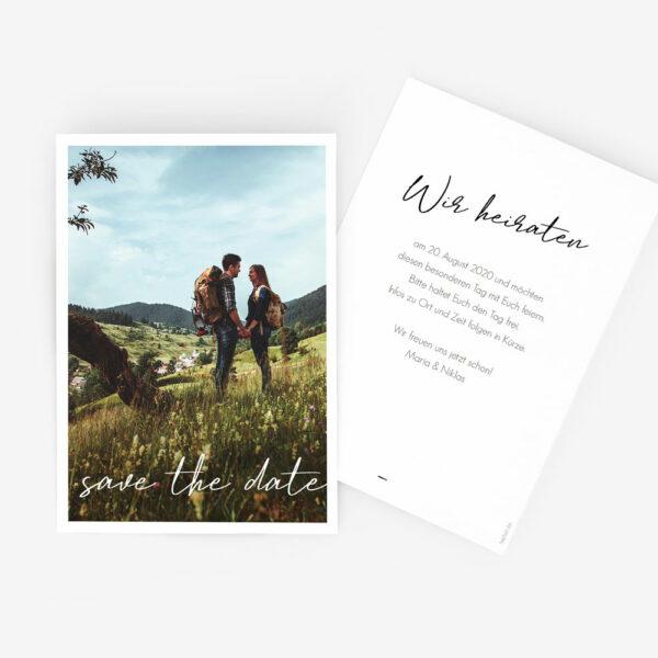 """Nachhaltige Save-the-Date Karte """"wir heiraten"""""""