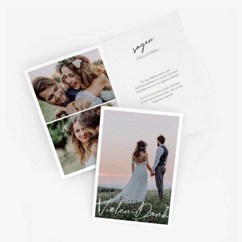 """Nachhaltige Dankeskarte Hochzeit """"wir heiraten"""""""
