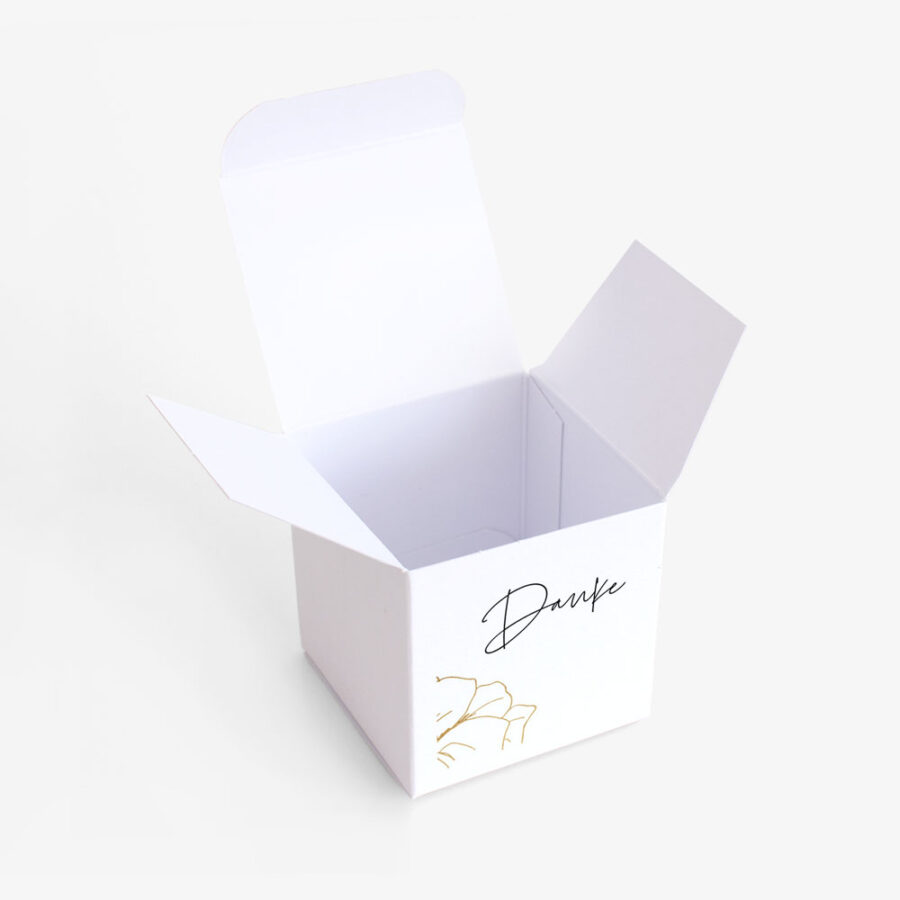 "Gastgeschenk Verpackung ""Flower in gold"""