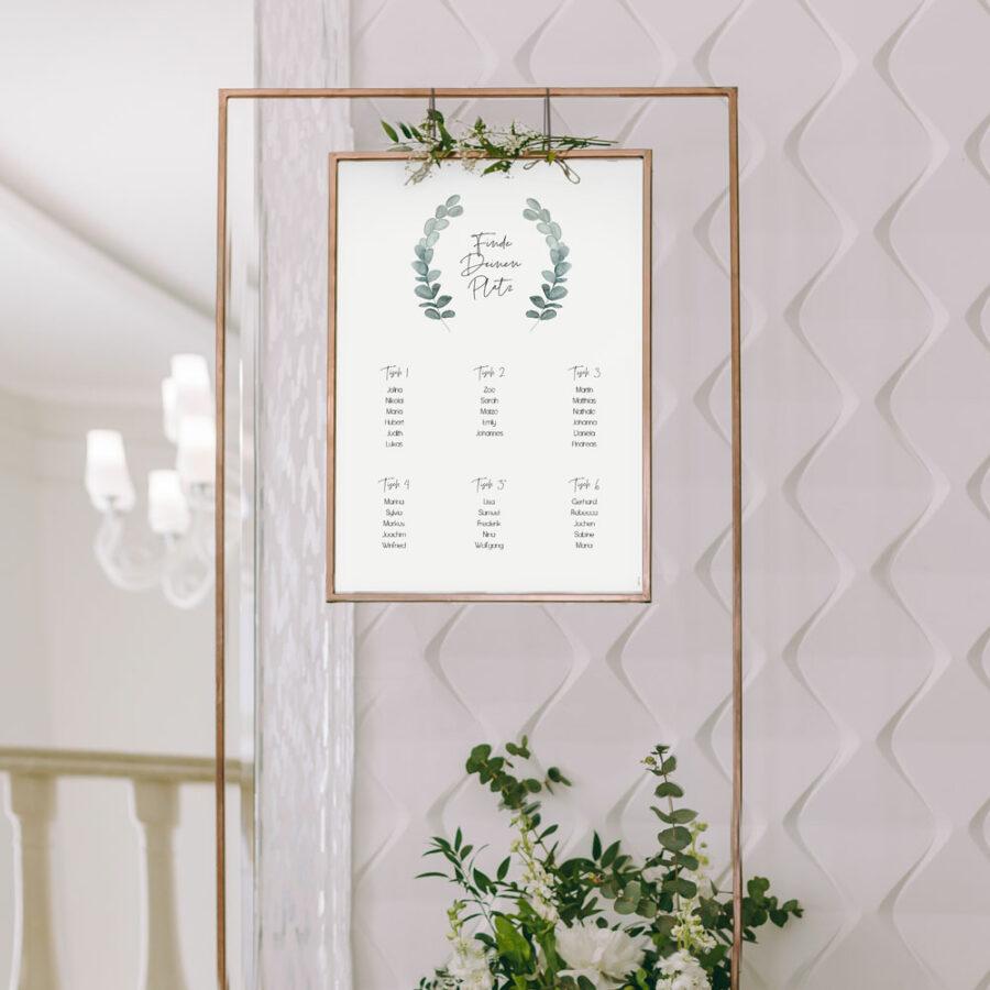 """Nachhaltiger Sitzplan """"Eukalyptus"""""""