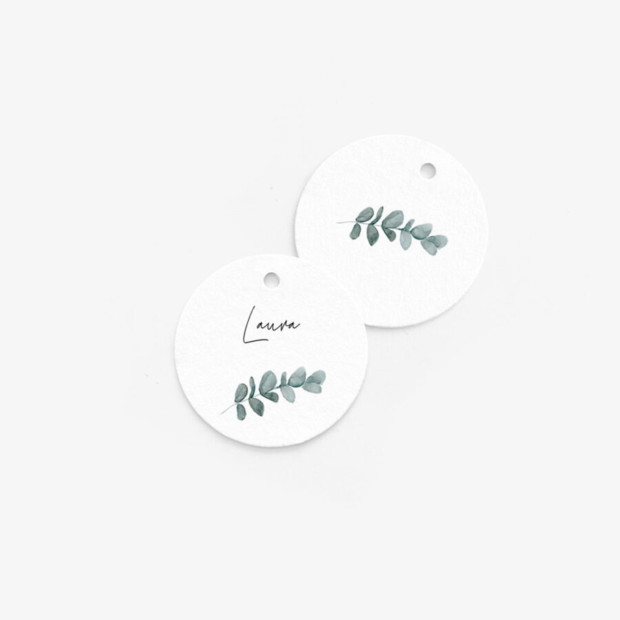 """Nachhaltige Tischkarte """"Eukalyptus"""""""