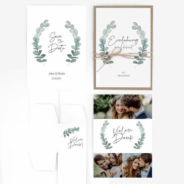 "Musterset Hochzeit ""Eukalyptus"""