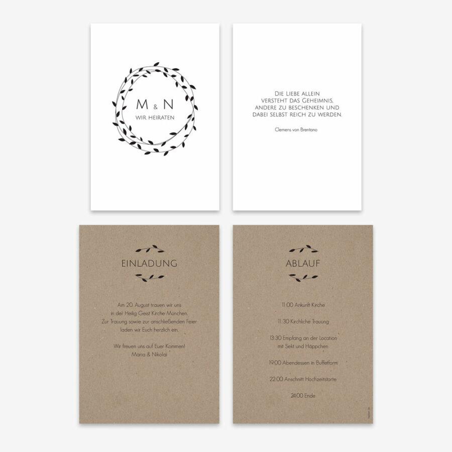 """Nachhaltige Hochzeitseinladung """"Pure"""""""