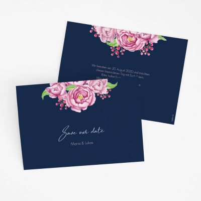 "Nachhaltige Save-the-Date Karte ""Midnight Garden"""