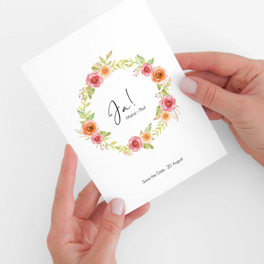 "Nachhaltige Save-the-Date Karte ""Bloomy"""