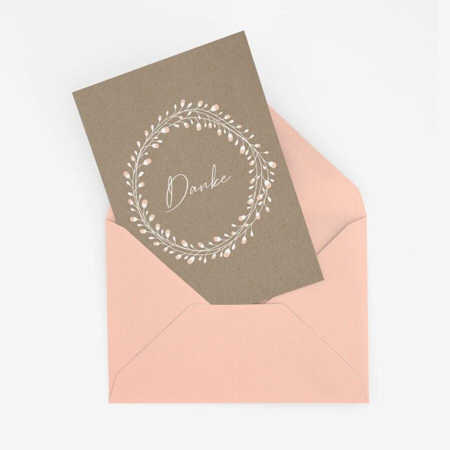"""Nachhaltige Dankeskarte Hochzeit """"Floral Craft"""""""