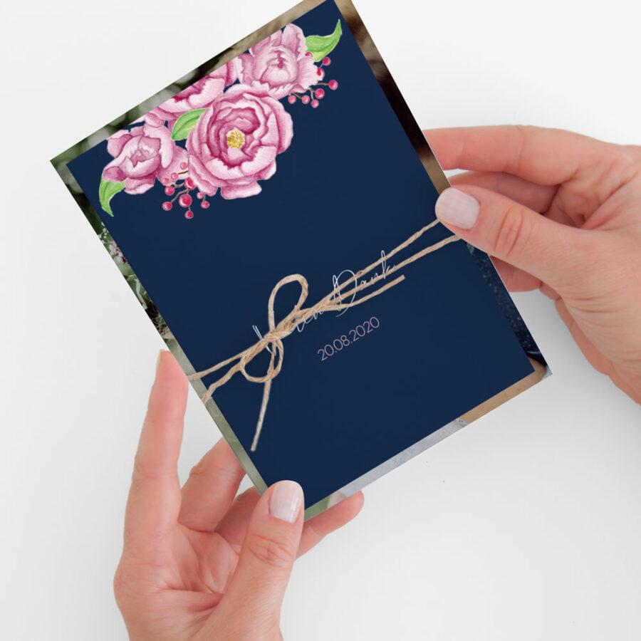 """Nachhaltige Dankeskarte Hochzeit """"Midnight Garden"""""""