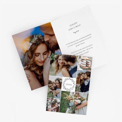 """Nachhaltige Dankeskarte Hochzeit """"Pure"""""""