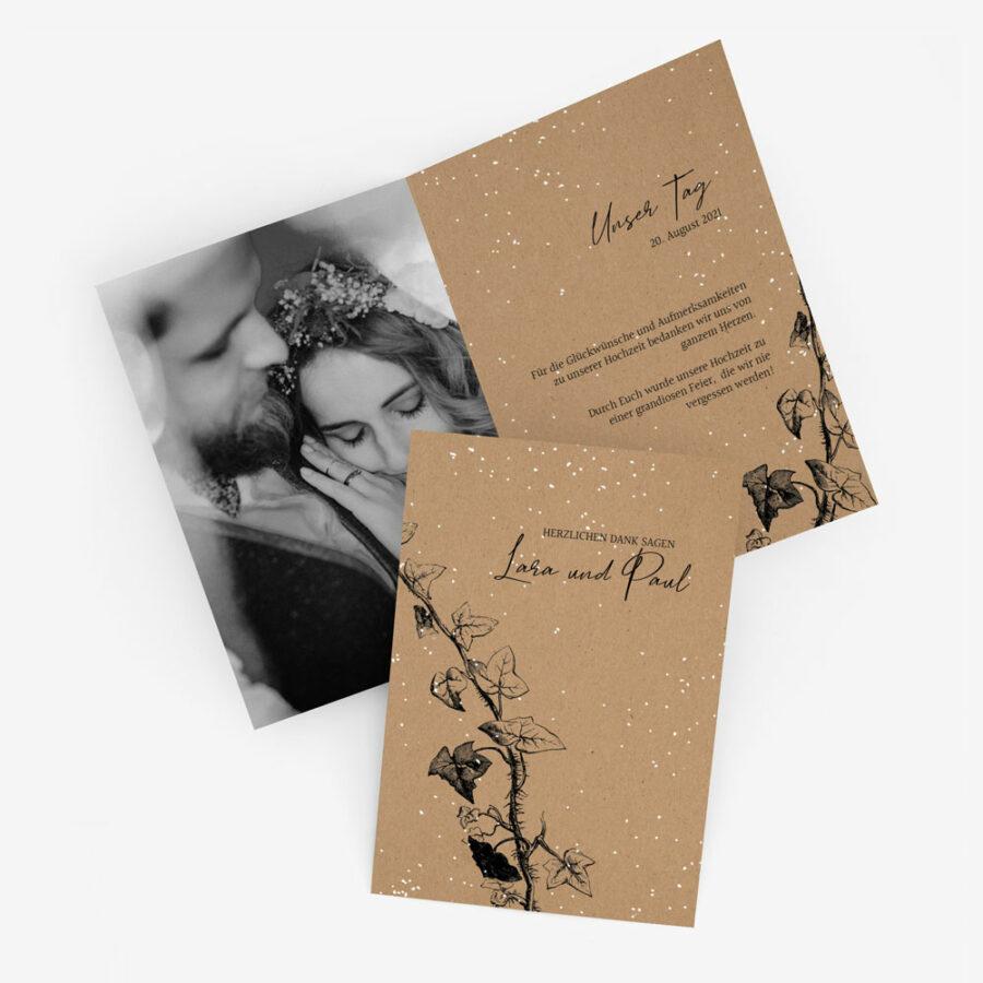 """Nachhaltige Dankeskarte Hochzeit """"Winterhochzeit"""""""