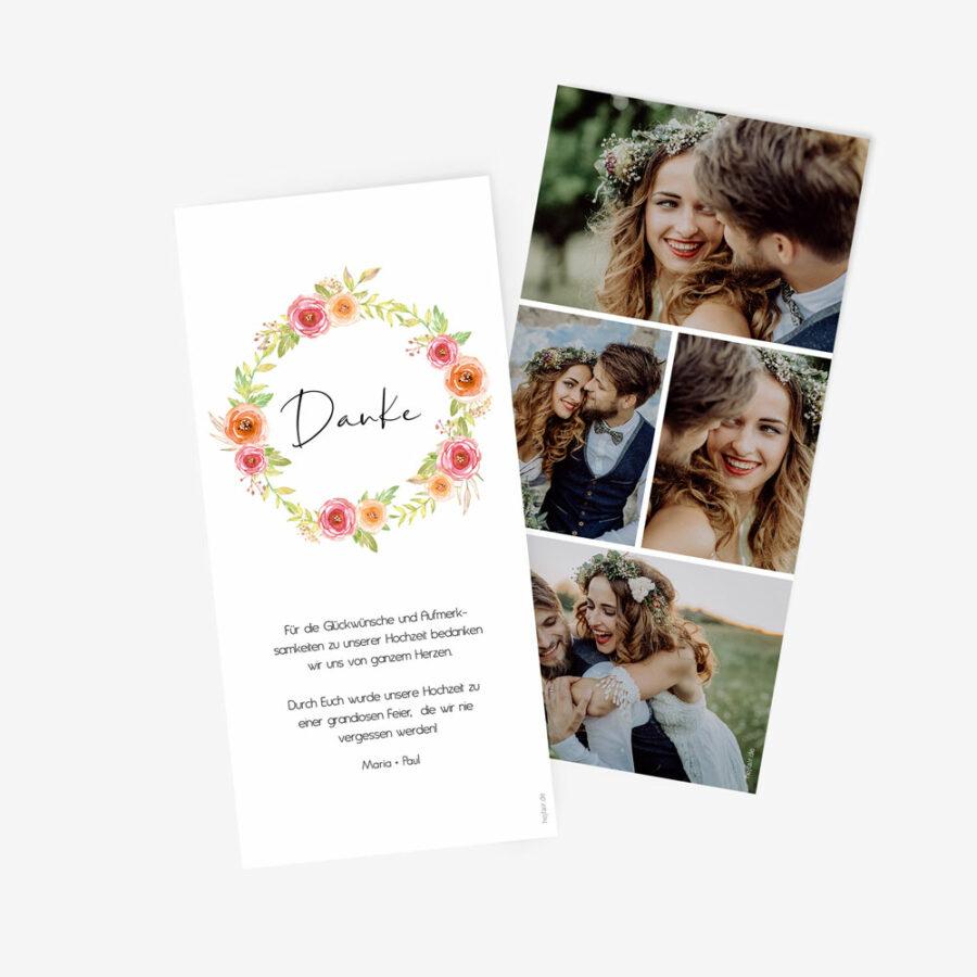 """Nachhaltige Dankeskarte Hochzeit """"Bloomy"""""""