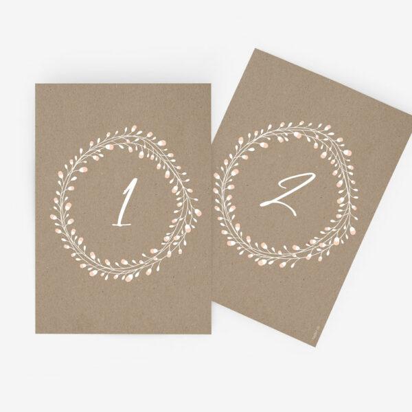 """Nachhaltige Tischnummer zur Hochzeit """"Floral Craft"""""""
