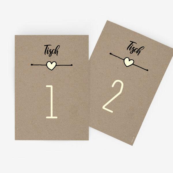 """Nachhaltige Tischnummer zur Hochzeit """"Rustic Craft"""""""