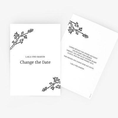 "Nachhaltige Change the Date Karte ""Twigs"""