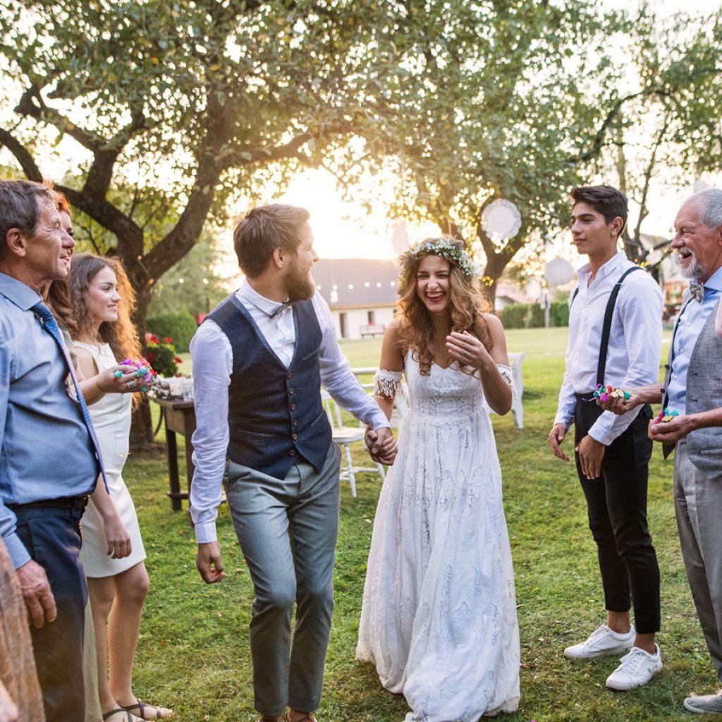 Nachhaltige Hochzeit im Freien