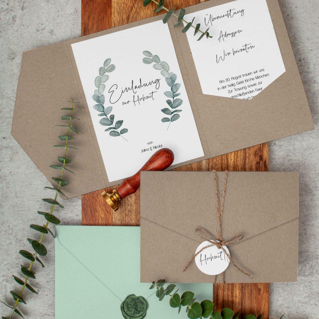 Nachhaltige Hochzeitskarten
