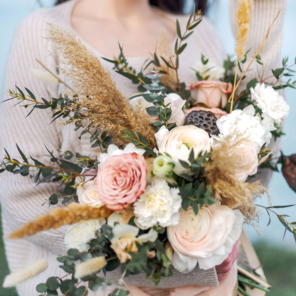 Natürlicher Brautstrauß
