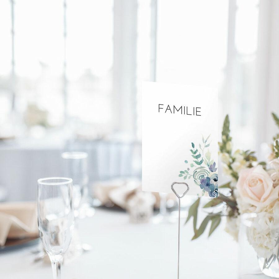"""Nachhaltige Tischnummer zur Hochzeit """"Golden Ampersand"""""""