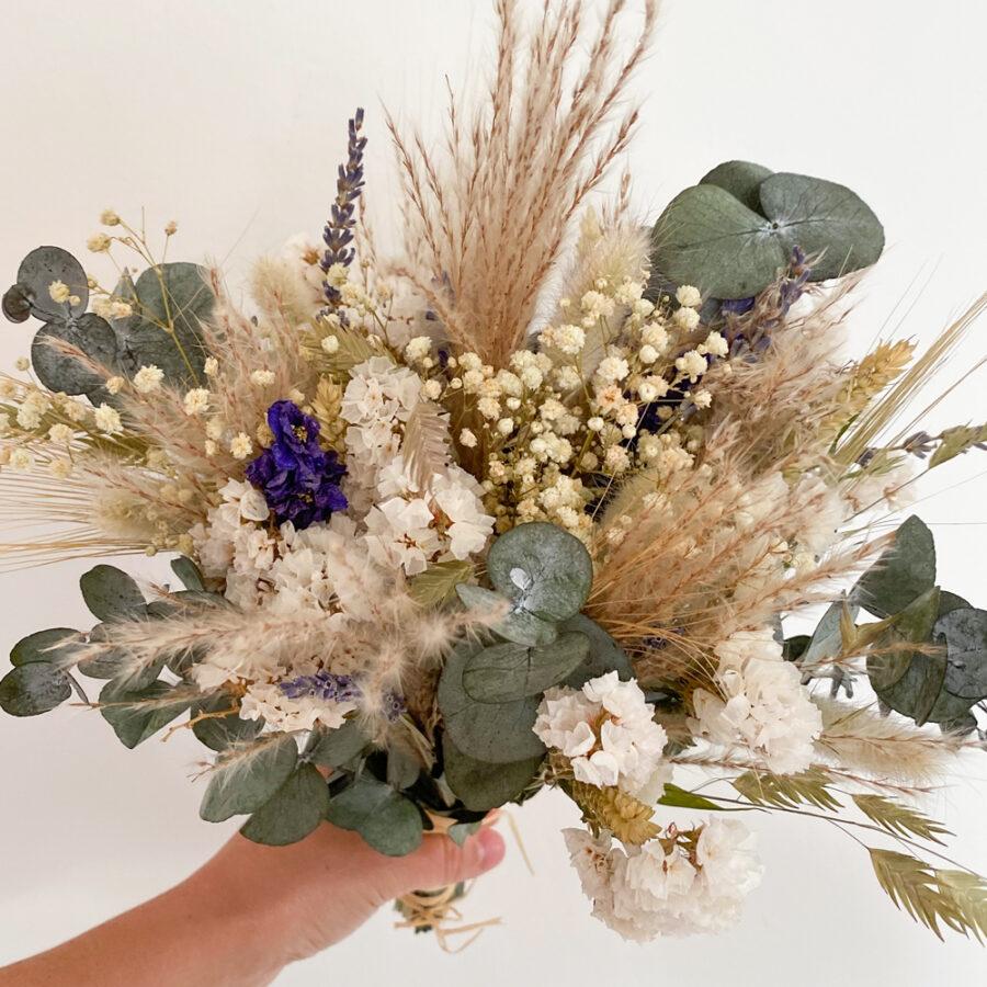 """Brautstrauß Trockenblumen """"Eukalyptus Weiß"""""""