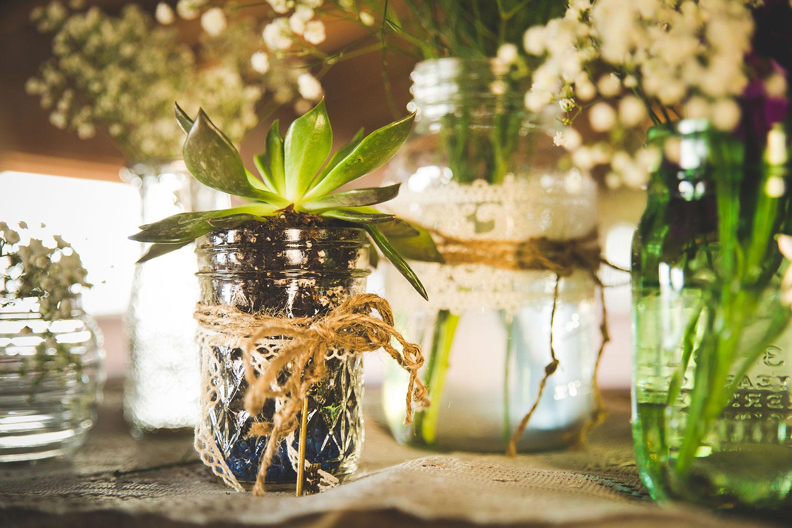 Upcycling Tischdeko Hochzeit