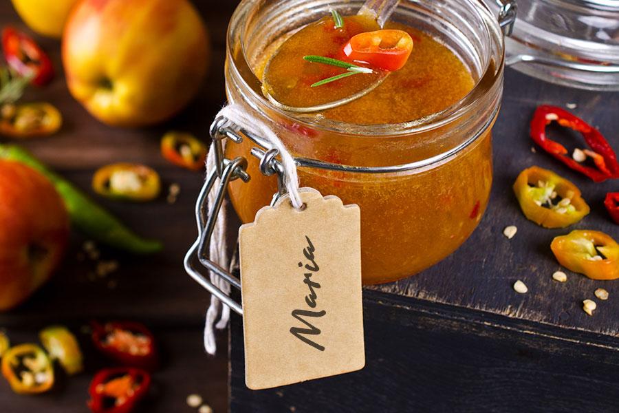 Gastgeschenk Hochzeit Apfel-Chili-Chutney