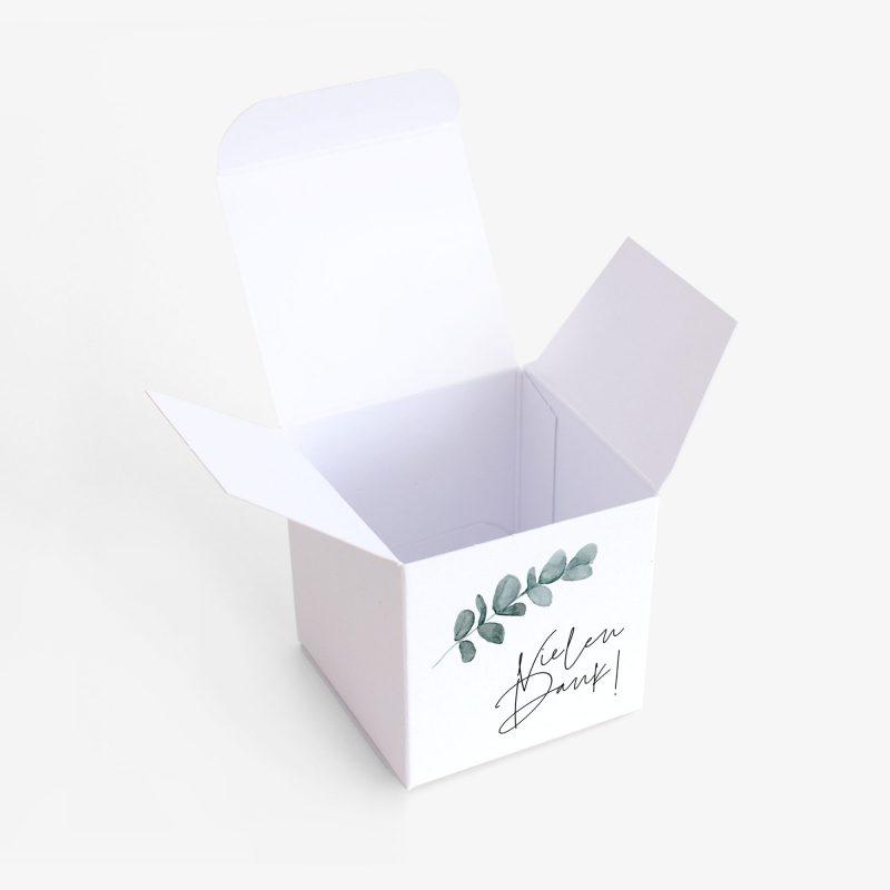 Gastgeschenk Verpackung Eukalyptus