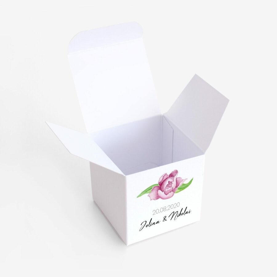 Gastgeschenk Verpackung Paeonia