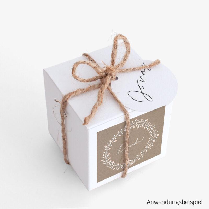 Gastgeschenk Verpackung Floral Craft