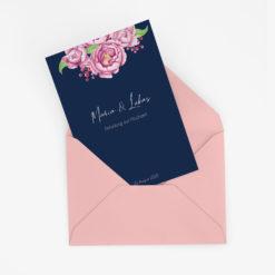 Florale Hochzeitseinladung