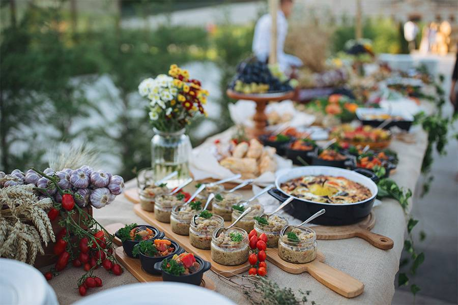 Vintage Hochzeits-Buffet