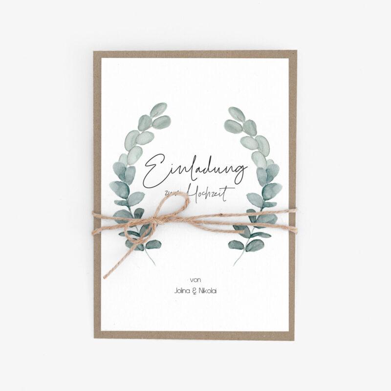 Nachhaltige Hochzeitseinladungen drucken lassen